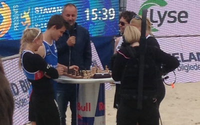 Norway's top man in chess, Magnus Carlsen, defeated on Center Court Stavanger